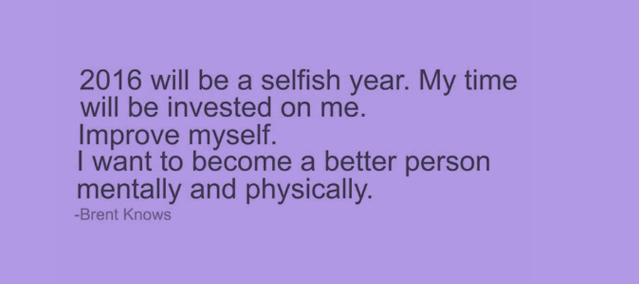 Call Me Selfish